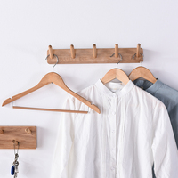 Nordic solid wood coat rack wall hanging simple multi purpose coat hook bedroom hanger home key storage hook household items