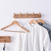Nordic solid wood coat rack wall hanging simple multi purpose coat hook bedroom hanger home key storage hook household items