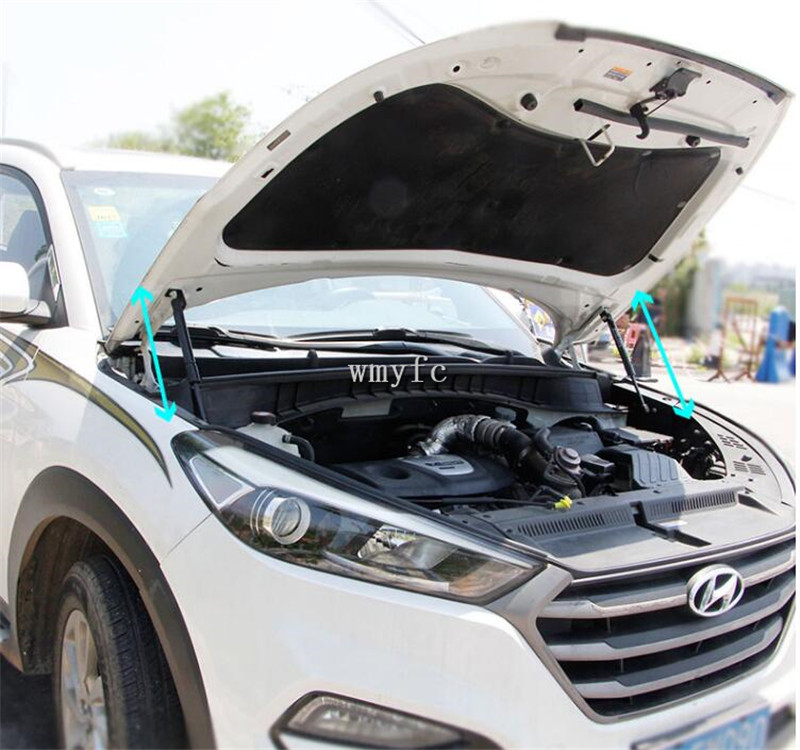 FIT FOR Hyundai Tucson 2015 2016 2017 2018 ACCESSORIES CAR BONNET HOOD GAS SHOCK STRUT LIFT SUPPORT CAR STYLING|Strut Bars| |  - title=