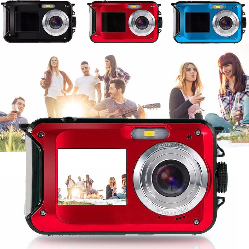 Gizcam 24MP Full HD 1080P Digital Camera 2.7 1.8 Dual LCD Screen Camcorder DV DVR Self-timer Selfie 16x Zoom CMOS Best Gift outdoor camping hunting 12x32 hd binocular telescope digital camera 5mp 2 0 tft display full hd 1080p lcd camcorder dv