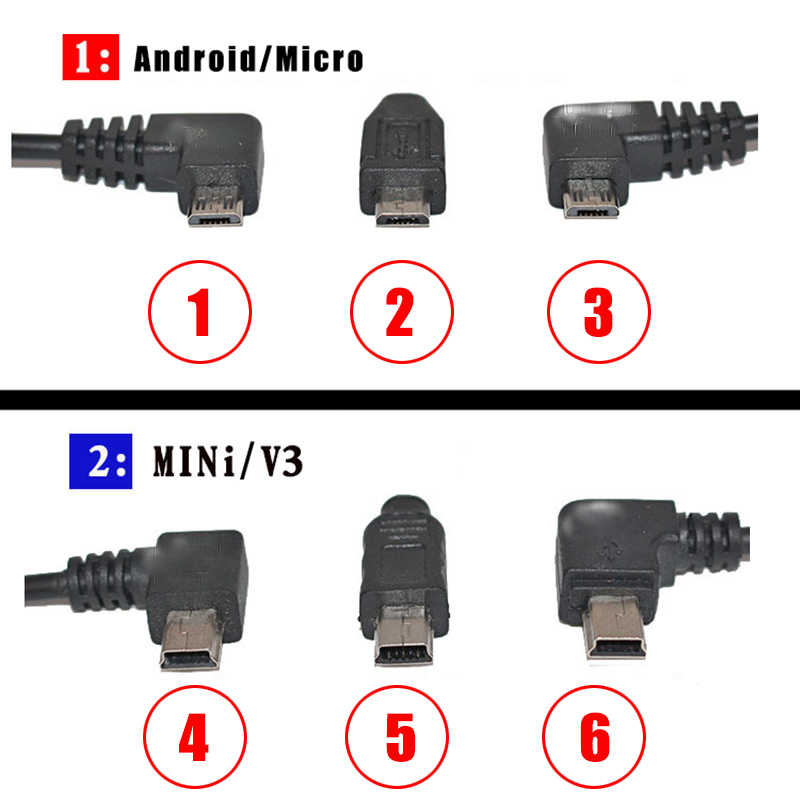 Universal Car Vehicle DC Power Charger Adapter Cord Mini USB Cable For DVR GPS Navigation Nuvi 5V 2A With Cable