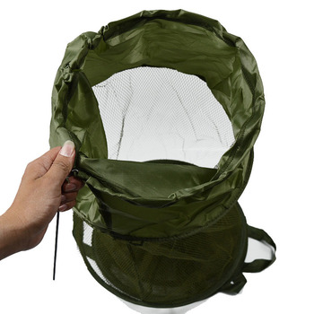 Best 1 Pcs Fishing Accessories Fishing Basket Dip Net Portable Folding Fishing Accessories cb5feb1b7314637725a2e7: small holes