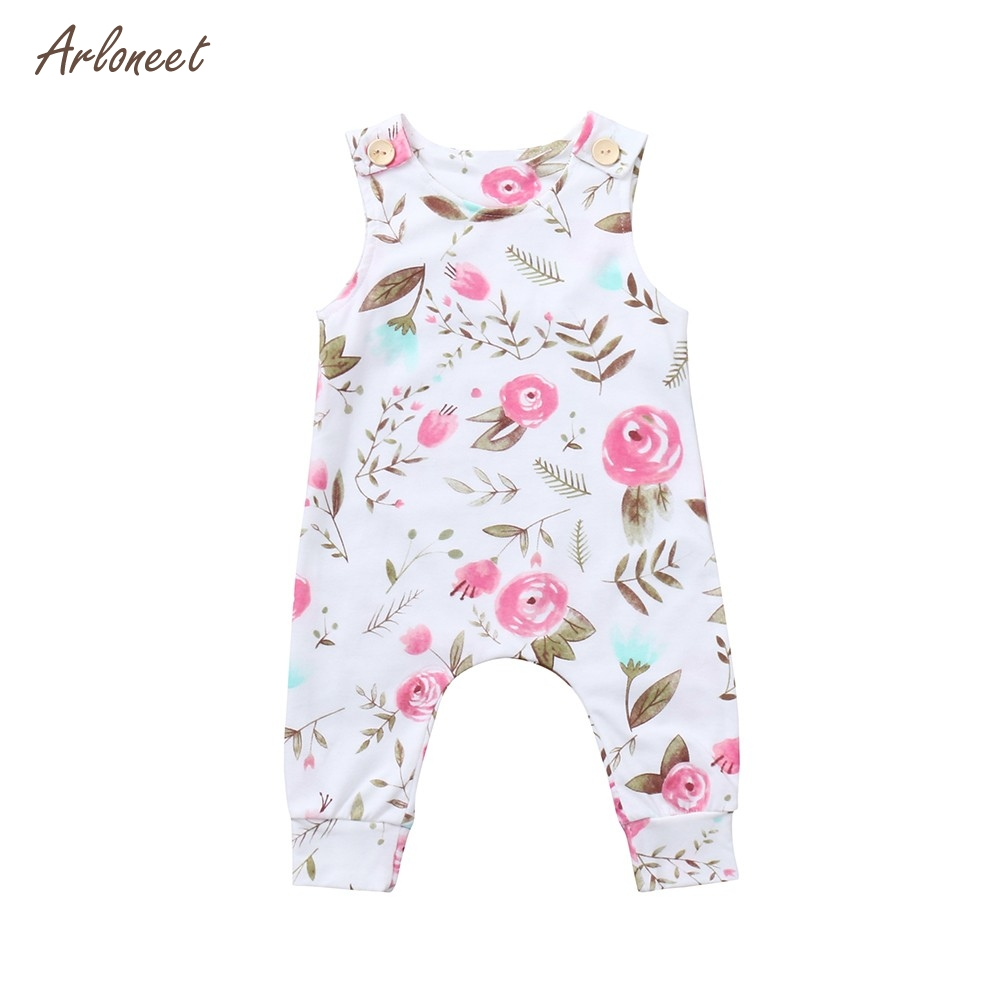 ARLONEET Cute Newborn Infant Baby Boys Girls Floral Print Romper Jumpsuit Outfits 2018 HOT Dropshipping _E30