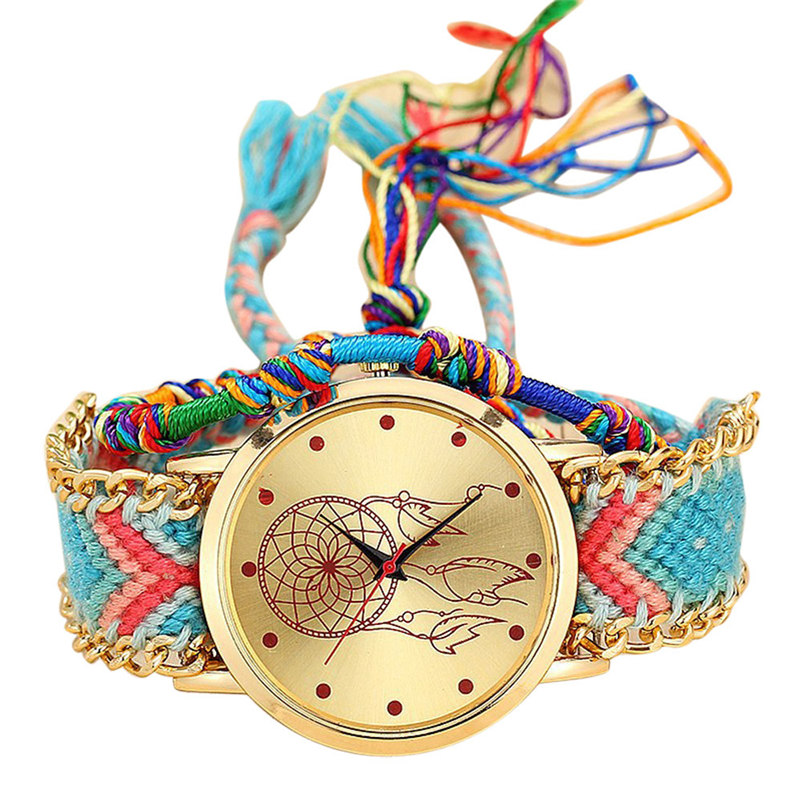 Women Watches Native Handmade Ladies Vintage Quartz Watch Dream Catcher Friendship Watches Luxury Casual Clock Reloj Mujer#c
