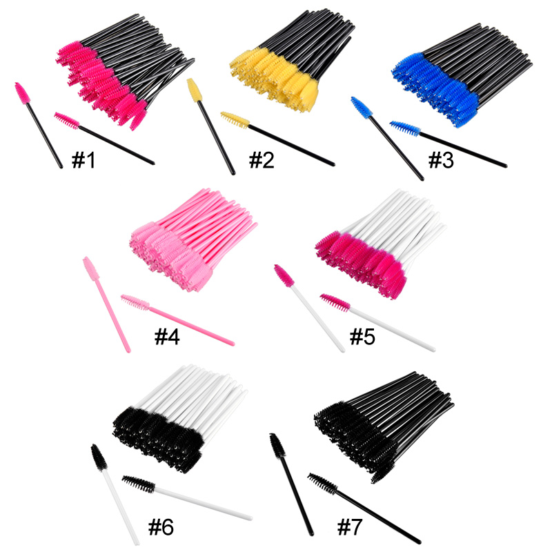 50pcs make up brush synthetic One-Off Disposable Eyelash Brush Mascara Applicator Wand Brush Eyelashes Brushes Cosmetic Makeup
