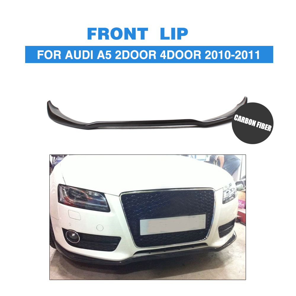 Carbon Fiber / FRP Front Bumper Lip Chin Spoiler Fit For Audi A5 2-Door 4-Door Non-Sline 2010-2011 Car Styling carbon fiber nism style hood lip bonnet lip attachement valance accessories parts for nissan skyline r32 gtr gts
