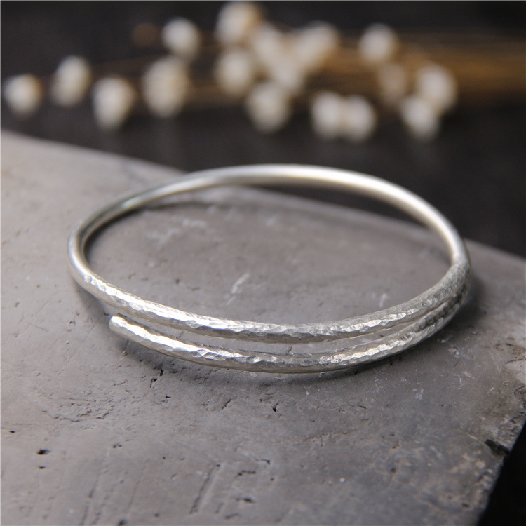 silver 925 sterling silver bracelet His mouth contracted fine bracelet Chiang mai, Thailand handmade silver bracelet 2018 new rushed men anel feminino chiang mai thailand handmade 925 sterling contracted temperament ring ms male food rings