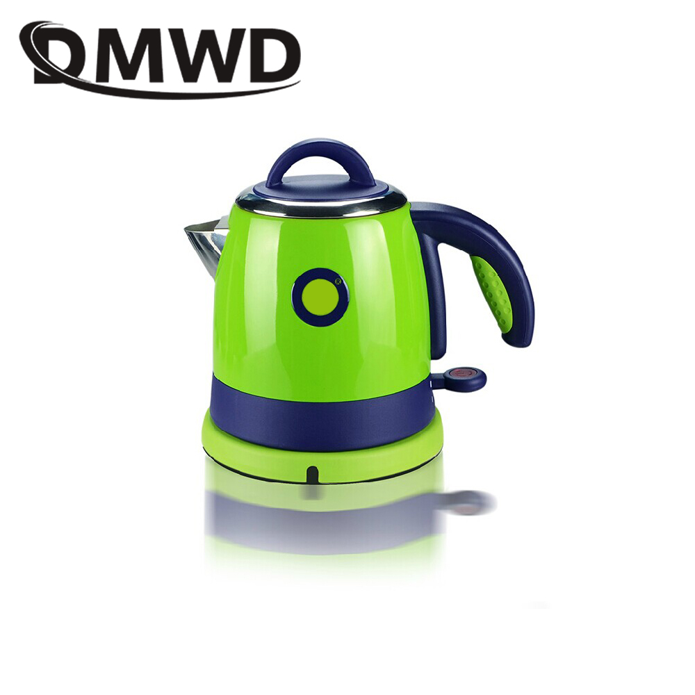 все цены на DMWD 0.8L Split Style Stainless Steel Quick Heating water Kettles Auto power off Electric kettle teapot boiler 1000w EU US plug онлайн