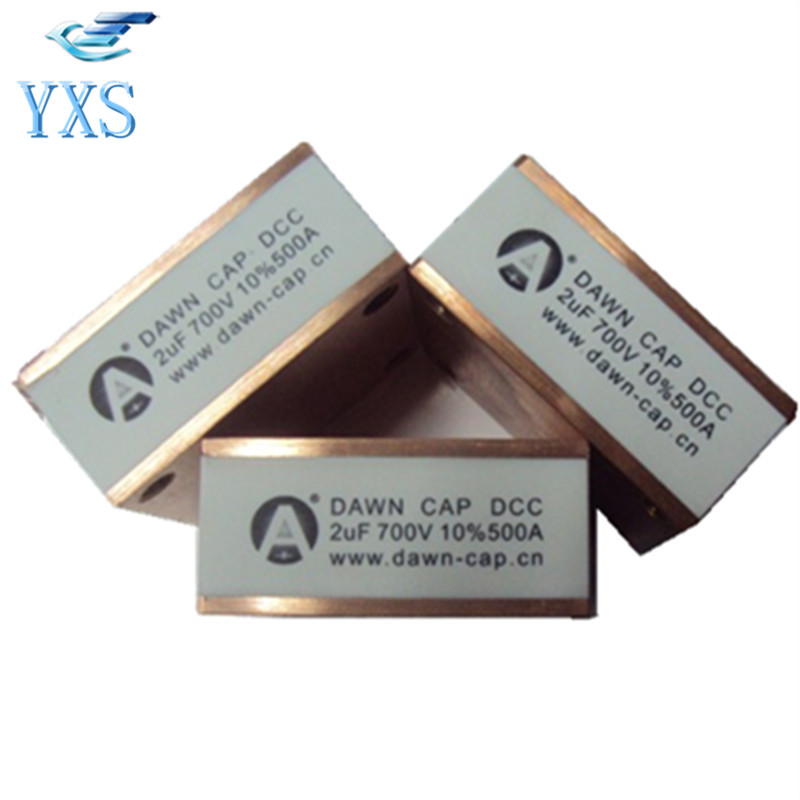 DCC-700VAC 700A 0.1UF 0.18UF 0.2UF 0.23UF 0.6UF 0.66UF 0.68UF 1.5UF 1.6UF 2UF 200UF High Frequency Welder Water Cooled Capacitor dtr series 2uf 1200vac 2500vdc high frequency high voltage ac resonant capacitor 80a