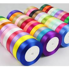 25Yards/Roll 20MM White Silk Satin Ribbons Gift Wrap Polyester Ribbon DIY Decoration Handmade Crafts Accessories For Sewing SR01