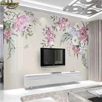 Beibehang floral tapeten für wohnzimmer moderne tapete minimalistischen TV hintergrund papier peint wandbild 3d wand papier bodenbelag