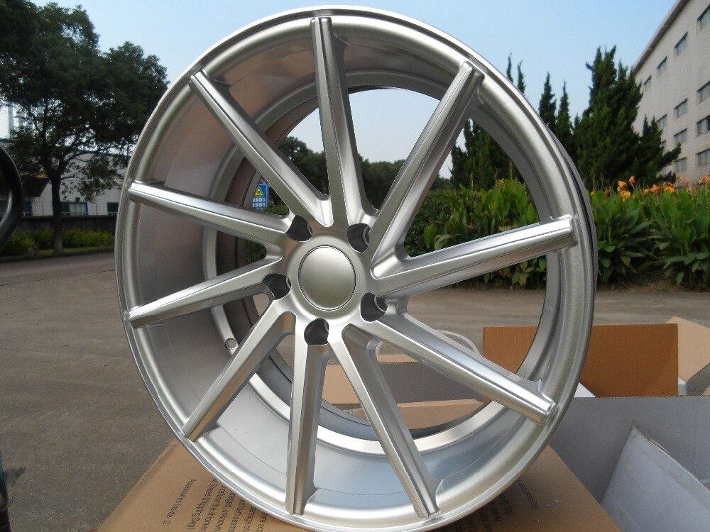 20x10 et 35 5x112 Silver Machine Face Alloy Wheel Rims W013 For Mercedes