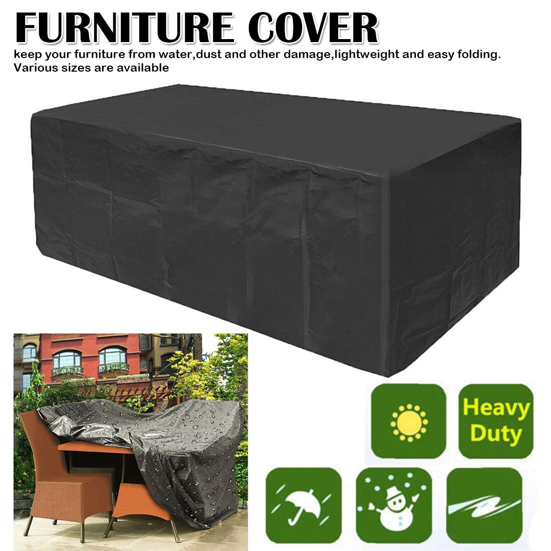 Garden Outdoor Patio Protective Case Oxford Furniture Dustproof Cover For Rattan Table Cube Chair Sofa Waterproof Rain