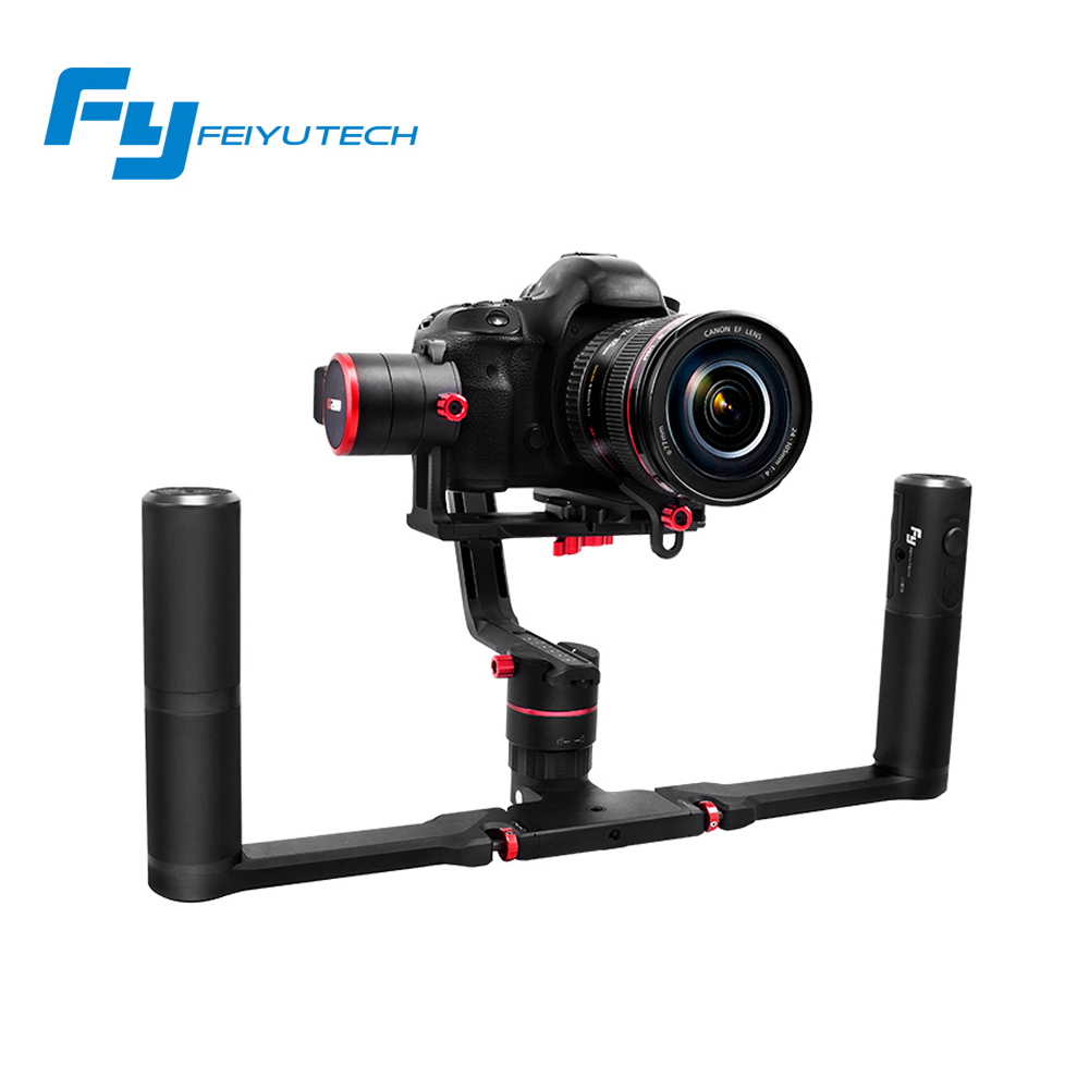 FEIYU A1000/A2000 Dual handheld 3-Axis Gimbal steadicam DSLR Camera Stabilizer for a6500 a6300 iPhone Canon 5D/SONY Panasonic 12mp 980 mah handheld steadygrip 4k camera 3 axis gimbal x3 for osmo kit