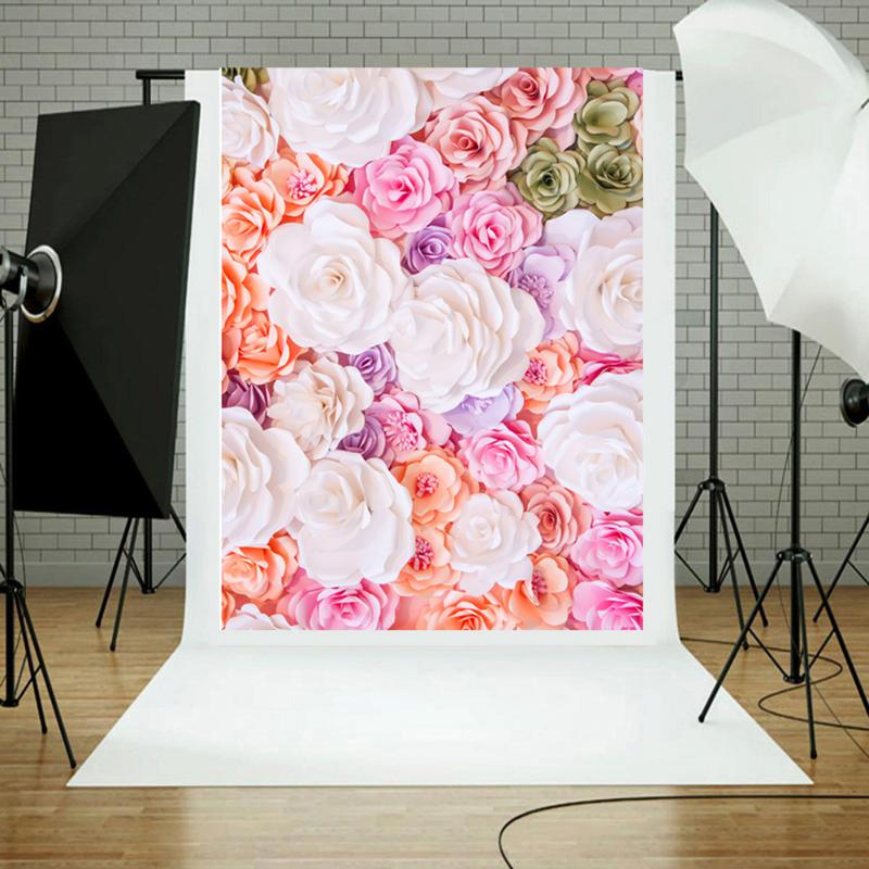 Blossom Flowers Wall Wedding Portrait Baby Photography Backgrounds Studio Photo Props Photographic Backdrops For Photo Studio 2x3m horizontal photography backdrops hot sale art fabric photo studio backgrounds for newborn wedding portrait family xt 4361