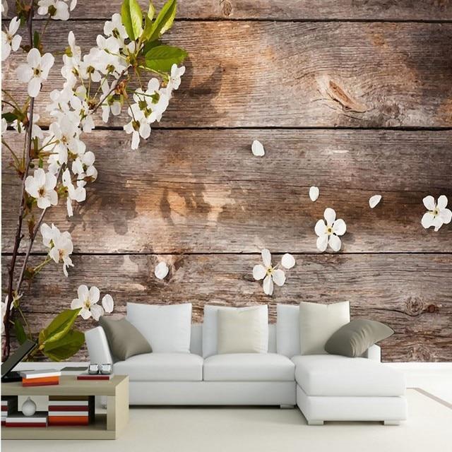 Foto wallpaper bella Moderno legno pera carta da parati camera letto  balcone bar sfondo decorazione murale personalizzato