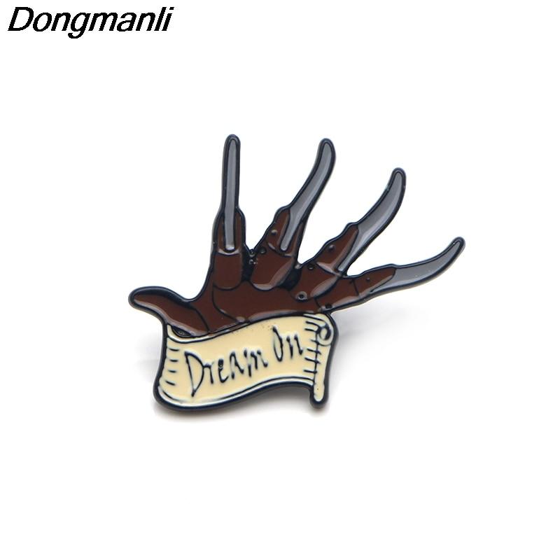 P3357 Wholesale 20pcs lot Freddy Krueger Enamel Pins and Brooches for Women Men Lapel Pin backpack