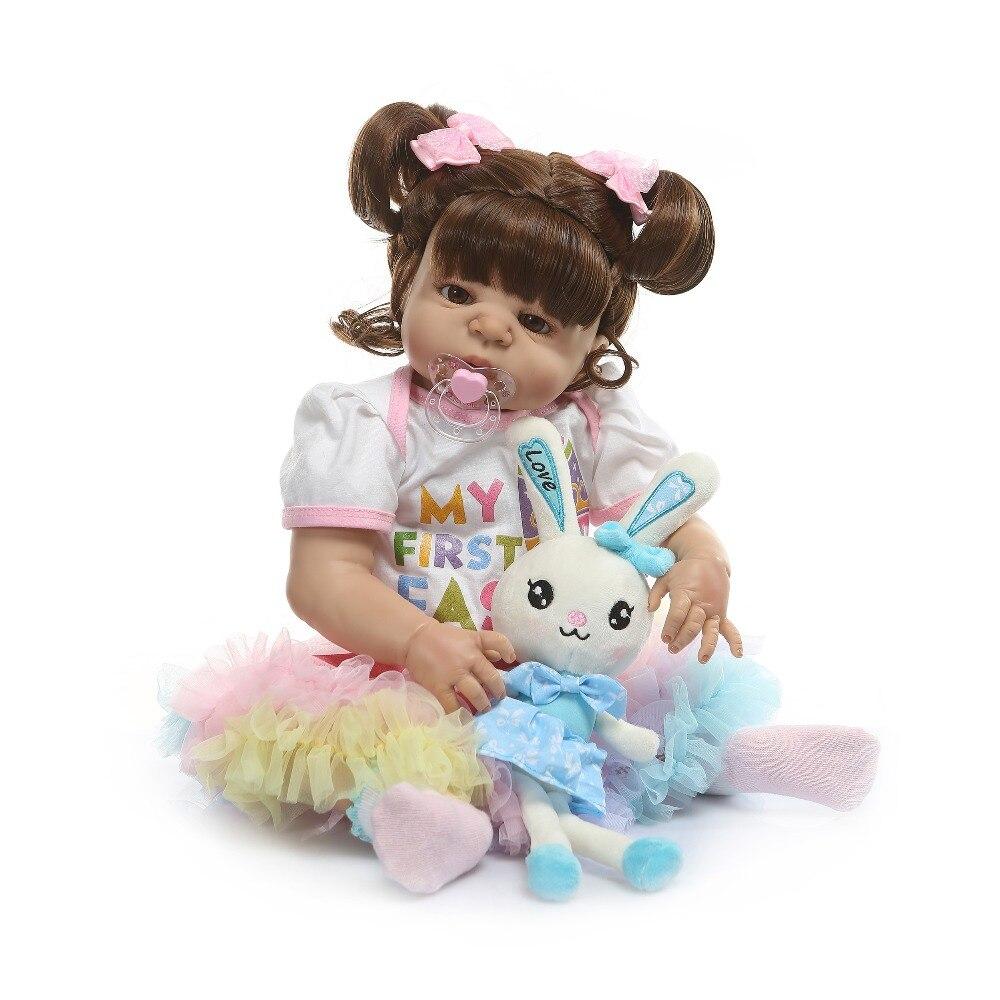 NPK 22 นิ้ว 56 ซม. ซิลิโคนทารกแรกเกิด Reborn ตุ๊กตากระต่ายทารกตุ๊กตาเหมือนจริง Bebe ตุ๊กตาสำหรับเด็กวันเกิด-ใน ตุ๊กตา จาก ของเล่นและงานอดิเรก บน   2