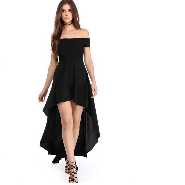 4acbbc4daccb € 23.54 15% de DESCUENTO|Negro y rojo mujer moda rodilla vestido sexy  labios sin mangas irregular vestido profesional mujer cola de dovetail G42  en ...