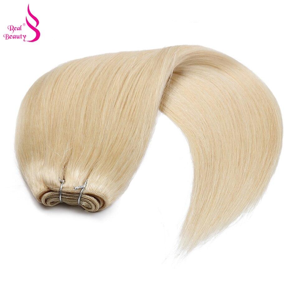 100% cabelo humano tecelagem platina loira cor
