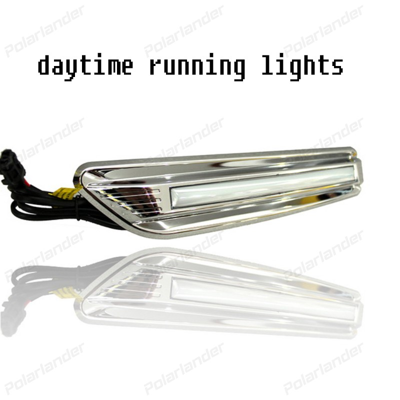 1 pair Daytime Running Light Car Styling Accessories Fog Lamp cover DRL for T/oyota R/AV4 DRL 2014-2015