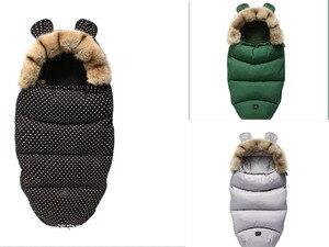 Image 5 - Kış bebek arabası uyku tulumu Yoya artı Yoyo Vovo kış sıcak Sleepsacks bornoz bebek tekerlekli sandalye zarflar yenidoğan ayak