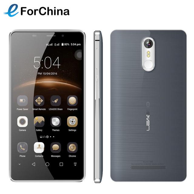 "Leagoo mt6580a m8 3g wcdma teléfono móvil android 6.0 teléfono inteligente 5.7 ""HD Quad Core 2 GB RAM 16 GB ROM 13.0MP 1280x720 de la Huella Digital OTA"