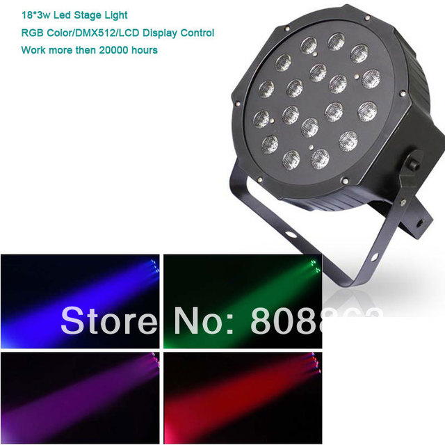 new arrival 54W High quality RGB DMX LED Master Slave Led Par Dance bar party DJ stage Light Free shipping XL-Q100