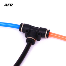 5PCS/LOT PE4 6 8 pe10 12 14 16 Pneumatic Push In Tee 3-Way Fitting Plastic Pipe Connector Quick