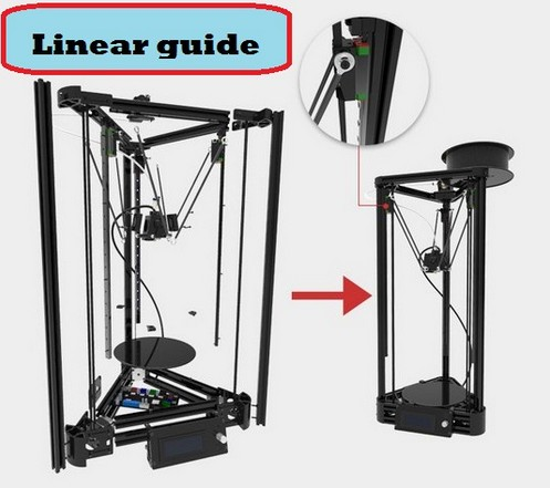 2016 Micromake 3D Printer Linear Guide DIY Kit Kossel Delta Auto Leveling Metal Printer injection version