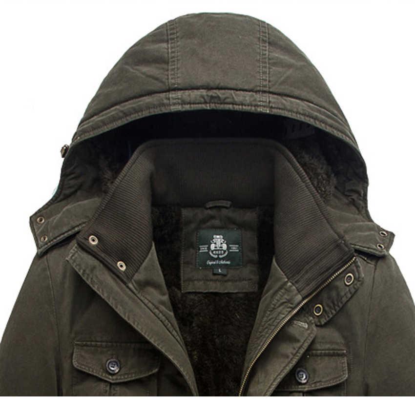 AFS JEEP/брендовые зимние мужские парки, куртка 2019, теплая куртка, мужское пальто, осенняя хлопковая парка, верхняя одежда, пальто, большие размеры L-8xl, 189cy