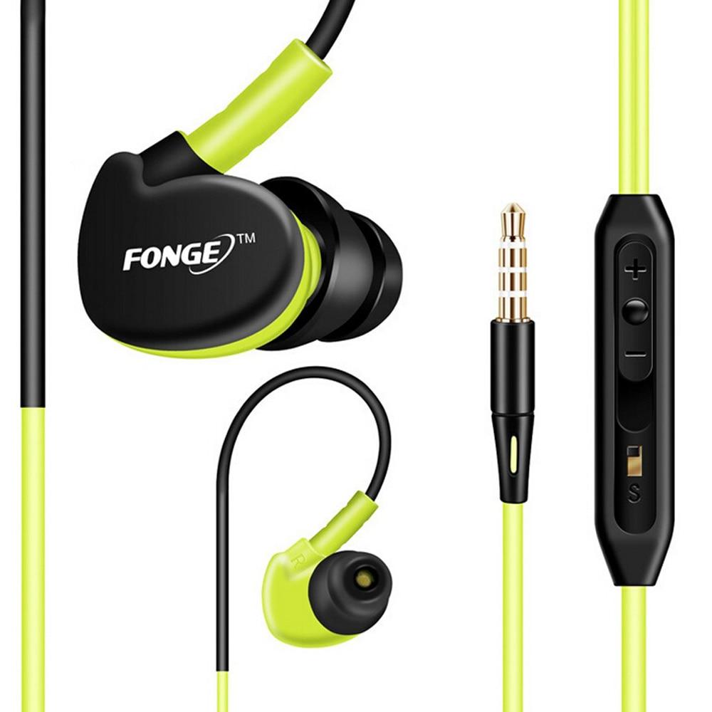 سماعة أذن رياضية تعمل بسماعات أذن ذكية مع مايكروفون سماعات أذن 3.5 ملم للأيفون لجميع الهواتف