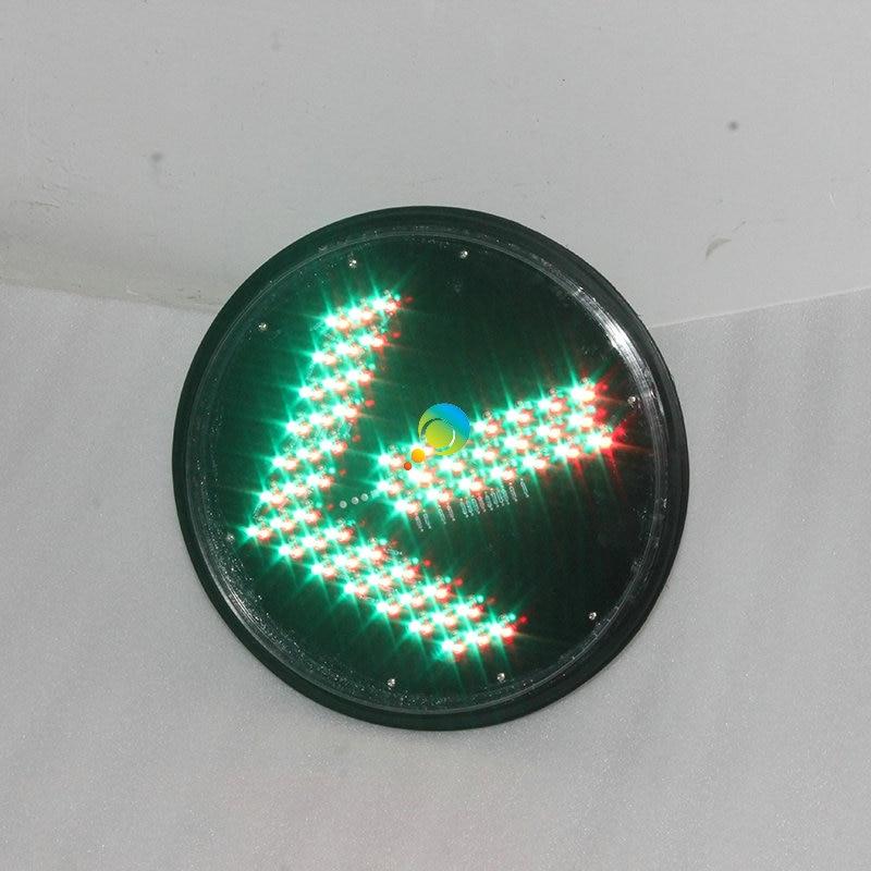 High Brightness New Design Red Green Arrow Light 300mm LED Module Traffic Light Lens