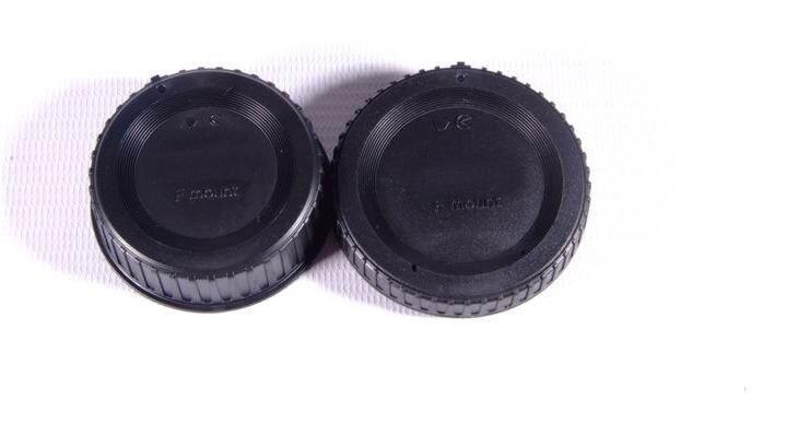 Wholesale 50 Pairs camera Body cap Rear Lens Cap for Nikon F mount SLR DSLR Camera