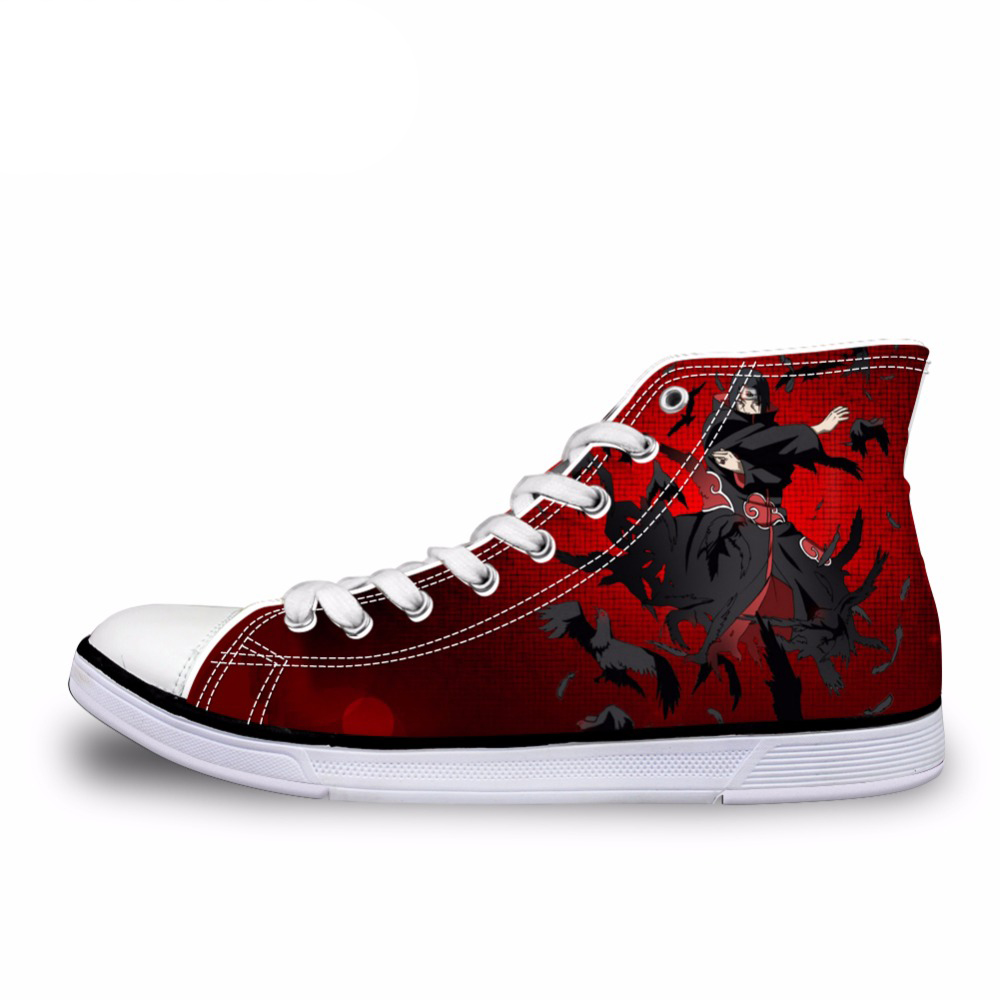 NOISYDESIGNS Mens High-Top Vulcanized Shoes Fashion Anime Naruto Cool  Uchiha Itachi Print Men Canvas 40ed9560858e