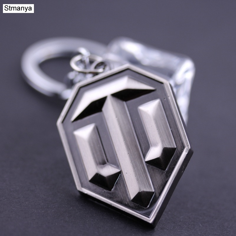 Hot Sale Llaveros Metal keychain Metal World of Tank Key Chain Chaveiro Keyring WOT Key Ring For Men gift wholesale #17064 image