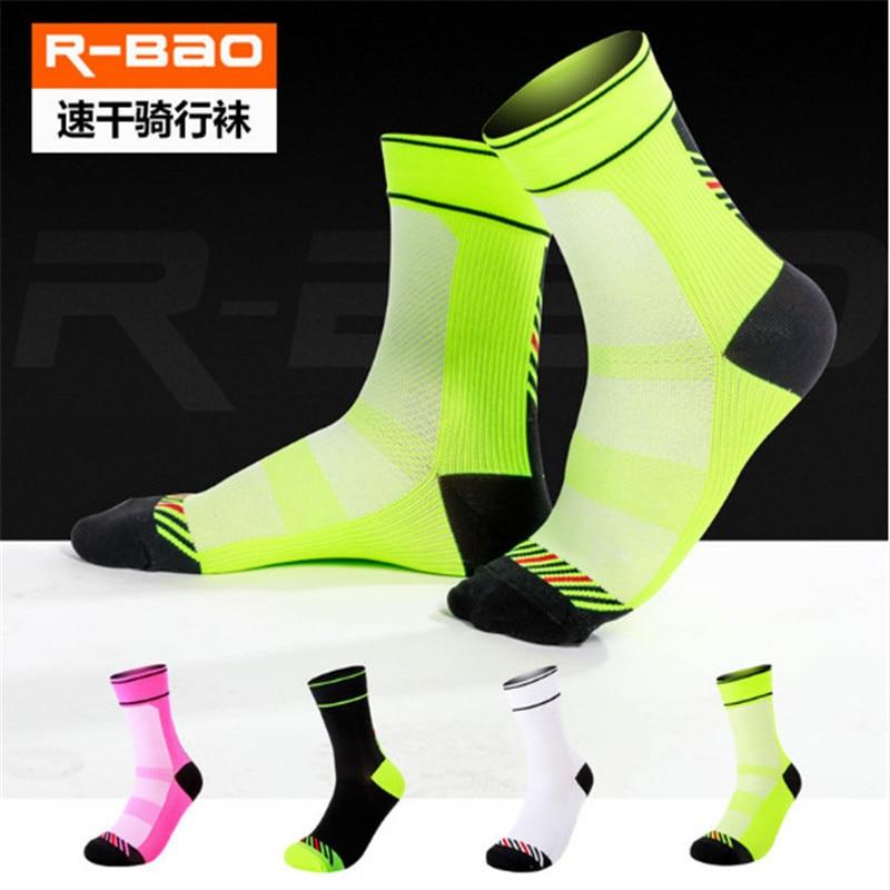 Meias de Ciclismo profissional (3 pares/lote) R-BAO/RB7801 Nylon Meias Meias Caminhadas Ao Ar Livre Das Mulheres Dos Homens de Esportes