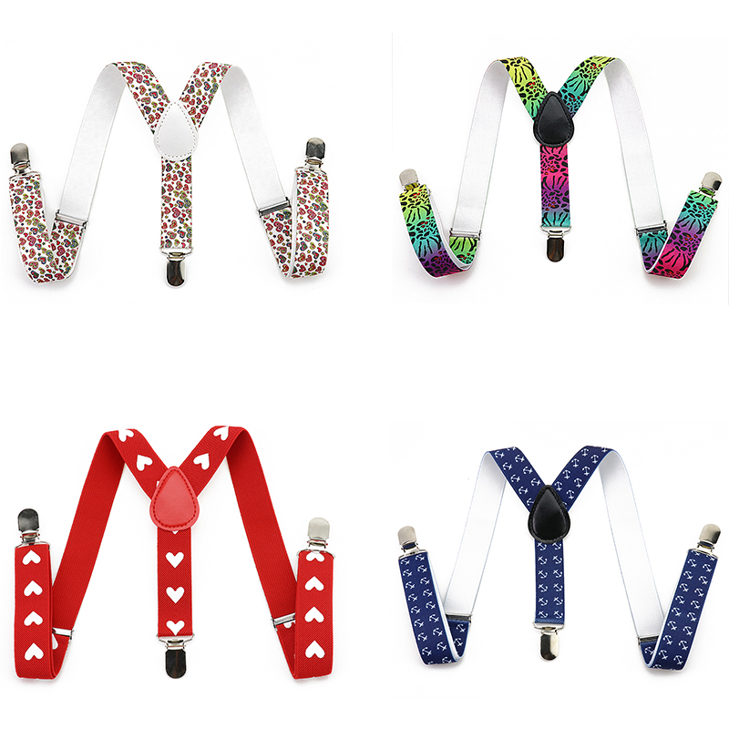 Mantieqingway Unisex Child 3 Clip Buckle Suspenders For Baby Boys&Girls Adjustable T-Shirts Braces Adjustable Kids Belt Strap