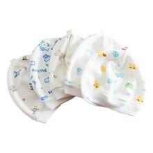 Симпатичные детские шляпы, теплые мягкие шапки унисекс из смешанного хлопка с героями мультфильмов для новорожденных и малышей