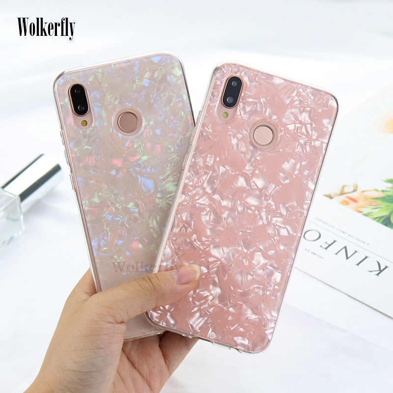 Luxury Conch Shell Phone Case for On Honor 8X 10 9 lite 7C 8A Pro case for Huawei P30 P10 P20 Lite Y9 Y7 Pro P Smart 2019 Cover