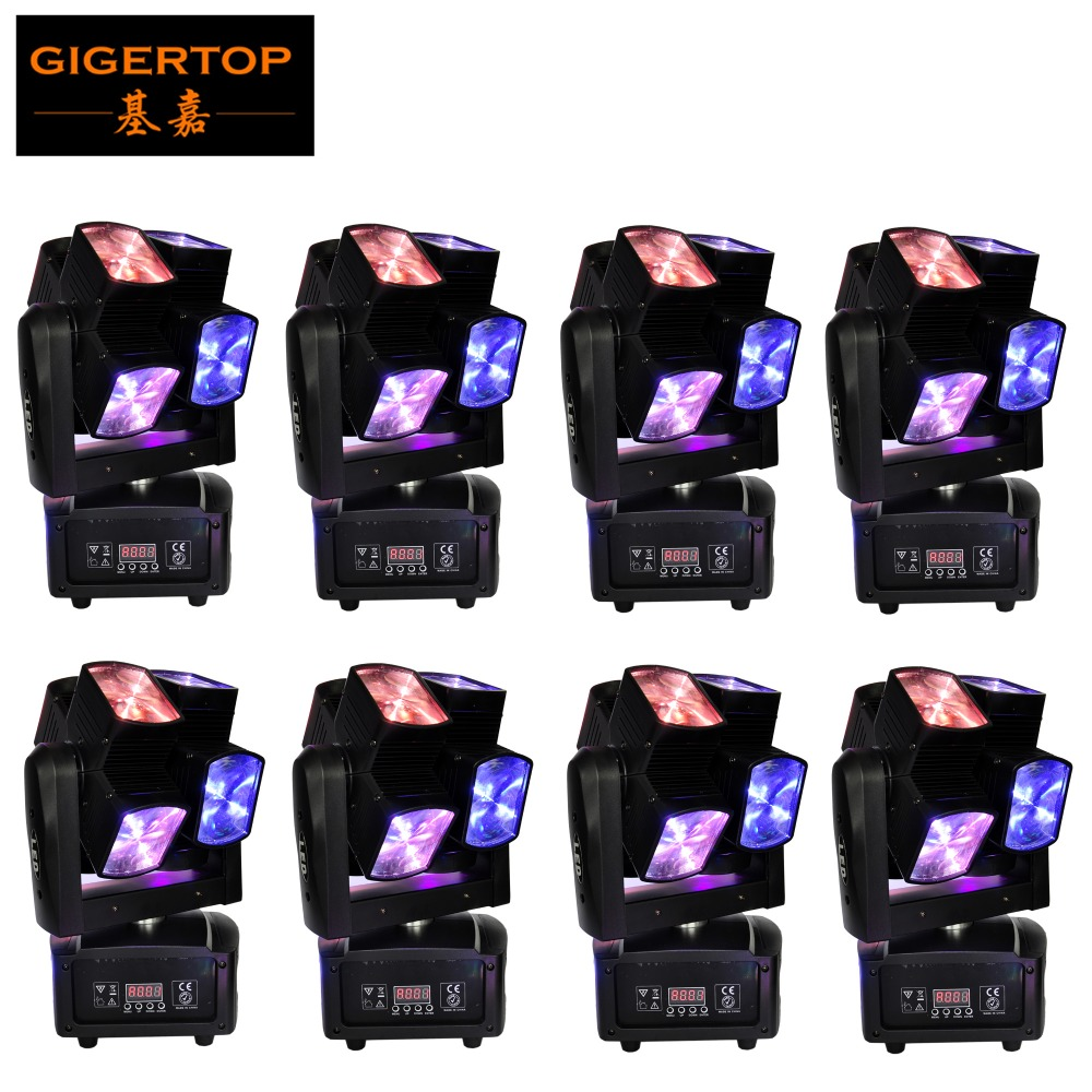 Discount Price 8 LED Spider Beam Moving Head Stage Lighting RGBW DMX DJ Disco Club Lights 10W CREE Original Ultimate Rotation