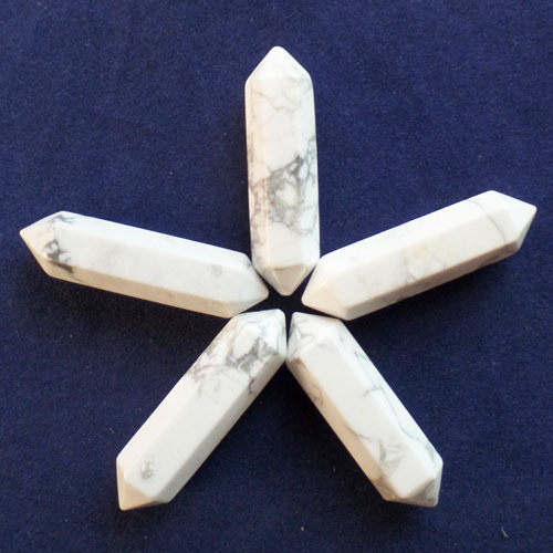 (5 pieces/lot) Wholesale Natural White Howlite Pendulum CAB CABOCHON 32x7mm Free Shipping Fashion Jewelry F0032719