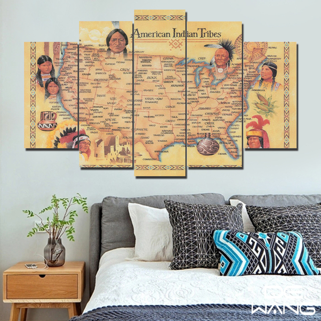 5 canvas art picture retro indian maps world map wall 5 painting art 5 canvas art picture retro indian maps world map wall 5 painting art prints for living gumiabroncs Images