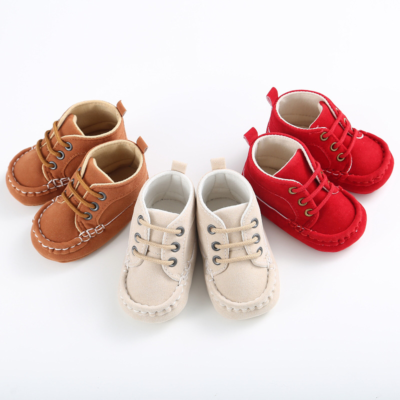 Fashion Handsome Baby Boys font b Shoes b font Prewalkers Sports Newborn Boys Toddler Sneakers Soft