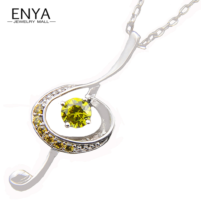 Aliexpress buy enya promotions new fashion jewelry round enya promotions new fashion jewelry round fire olive cubic zirconia crystal stone silver plated pendants necklace mozeypictures Images