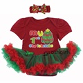 my 1st Christmas Tree Party Costumes for Baby Girls Clothing Santa Claus Girl Dress Tutu Romper Newborn Gifts Kids Clothing Set