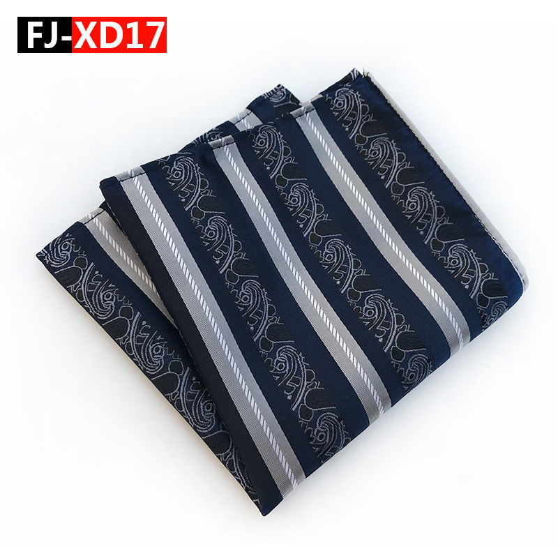 High Quality Silk  Mens Pocket Square Paisley + Stripes Hankerchief Scarves Vintage Hankies Men's Square Handkerchiefs