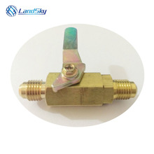 R12 R134A R410A Refrigeration Ball Valve Connector Switch Valve Add Liquid Close Ball Valve BV1414M two ports male 1/4SAE 2pcs car 1 4sae to 5 16sae refrigeration adapter connector adaptor for r410a gauges hose air conditioning connector