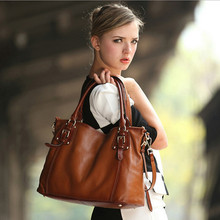 2017 New Women Fashion Genuine Cow Leather Large Capacity Handbags Female Brand Shoulder Bag Casual Tote Cross Body Bag