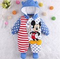 Minnie Micky Baby Romper Cartoon Winter Coveralls Boy Clothing Infant Overcoat for Girl Warm Jumpsuit Bebes Newborn Baby Clothes